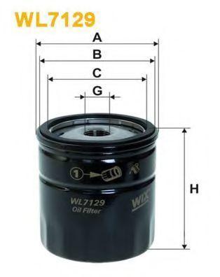 Фильтр масляный WIX WL7129