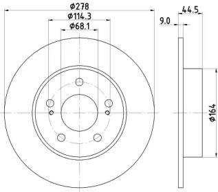 Тормозной диск PAGID 54131: стоимость