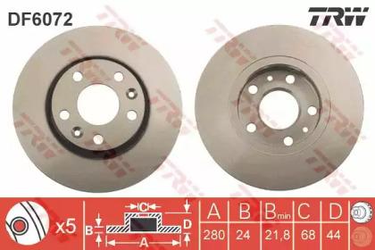Диск тормозной TRW DF6072: купить