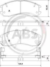 Колодки тормозные A.B.S. 36666: стоимость