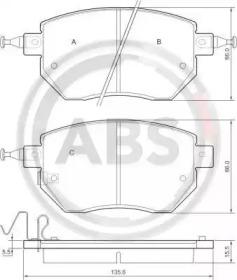 Колодки тормозные A.B.S. 37504: стоимость