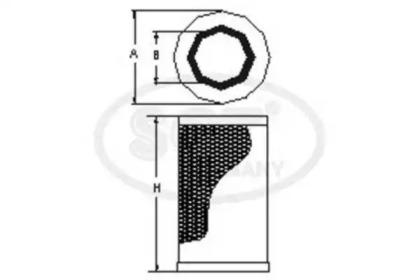 Фильтр воздушный SCT SB901: заказать