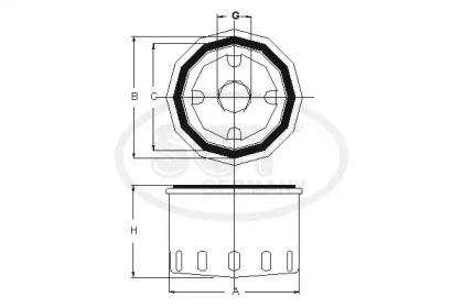 Фильтр масляный SCT SM106: заказать