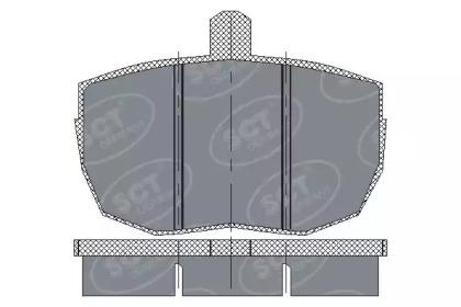 Колодки тормозные ProfiLine SCT SP121PR: стоимость