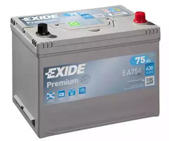 Аккумулятор 75Aч 630A PREMIUM EXIDE _EA754: цена