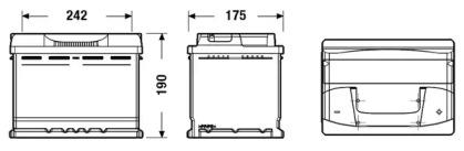 Аккумулятор 62Ач 540А Excell EXIDE EB620: заказать