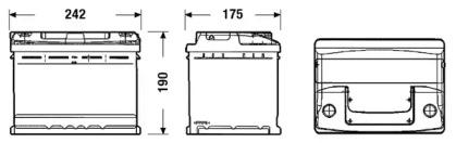 Аккумулятор 55Ач Classic EXIDE EC550: цена