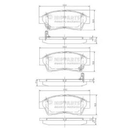 Колодки тормозные NIPPARTS J3602064: заказать