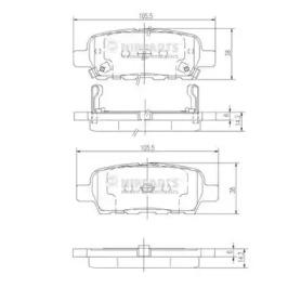 Колодки тормозные NIPPARTS J3611044: продажа