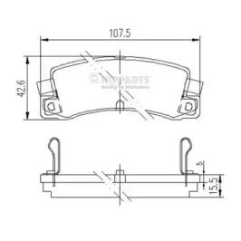 Колодки тормозные NIPPARTS J3612008: описание