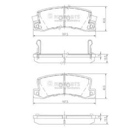 Колодки тормозные NIPPARTS J3612013: стоимость