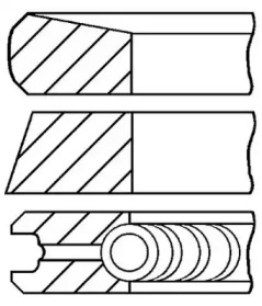 Комплект колец GOETZE 08-373700-00: цена