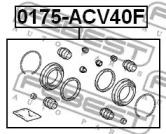 Ремкомплект суппорта FEBEST 0175-ACV40F: продажа