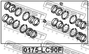 Ремкомплект суппорта FEBEST 0175-LC90F: заказать