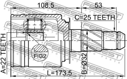 ШРУС внутренний FEBEST 0211-FX35RH: цена
