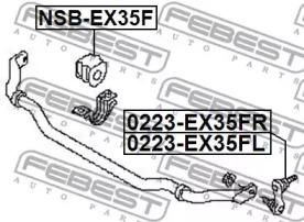 Стойка стабилизатора FEBEST 0223-EX35FL: купить