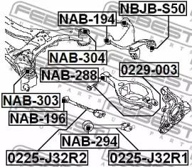 Болт развальный FEBEST 0229-003: продажа