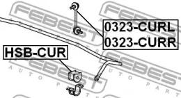 Стойка стабилизатора FEBEST 0323-CURR: стоимость