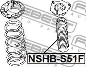 Пыльник амортизатора переднего FEBEST NSHB-S51F: описание