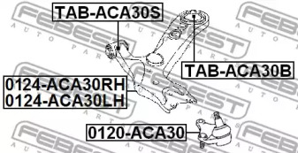 Сайлентблок FEBEST TAB-ACA30S: продажа