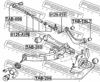 Сайлентблок рычага подвески FEBEST TAB-TSL7: описание