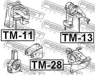 Опора двигателя FEBEST TM-13: заказать