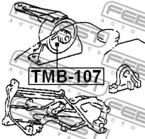 Сайлентблок опоры двигателя FEBEST TMB-107: заказать