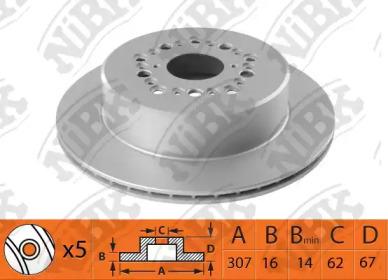 Тормозной диск NIBK RN1488: описание