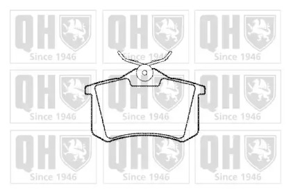 Колодки тормозные QUINTON HAZELL BP456: цена