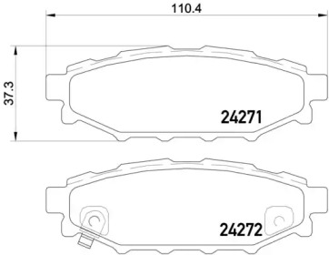 Колодки тормозные BREMBO P 78 020: описание