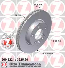 Диск тормозной ZIMMERMANN 600.3225.20: описание