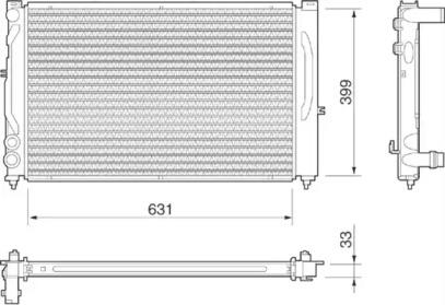 Радиатор охлаждения MAGNETI MARELLI 350213811000: продажа