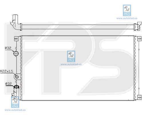Радиатор охлаждения FPS 56A930X