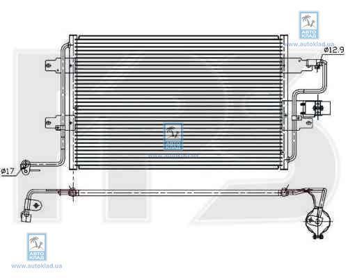 Радиатор кондиционера FPS 74K353