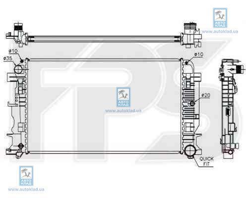 Радиатор охлаждения FPS 46A60