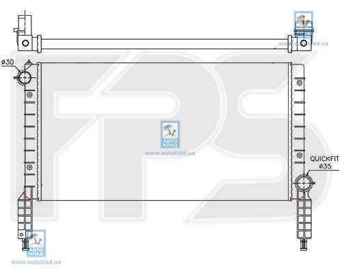 Радиатор охлаждения FPS 26A133