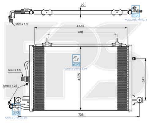 Радиатор кондиционера FPS 12K178