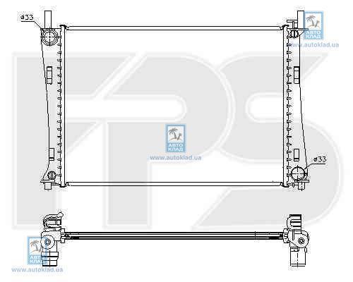Радиатор охлаждения FPS 28A188P