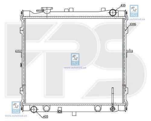 Радиатор охлаждения FPS 40A1097