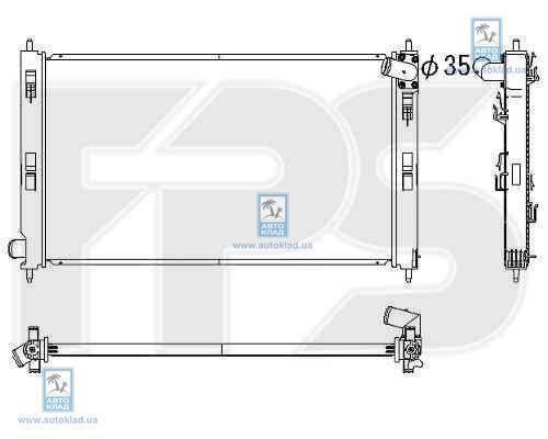 Радиатор охлаждения FPS 48A1155