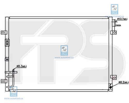 Радиатор кондиционера FPS 40K321X