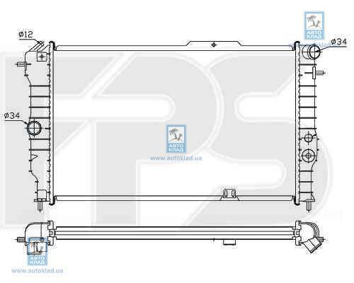 Радиатор охлаждения FPS 52A279X