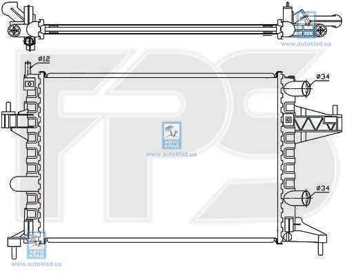 Радиатор охлаждения FPS 52A265