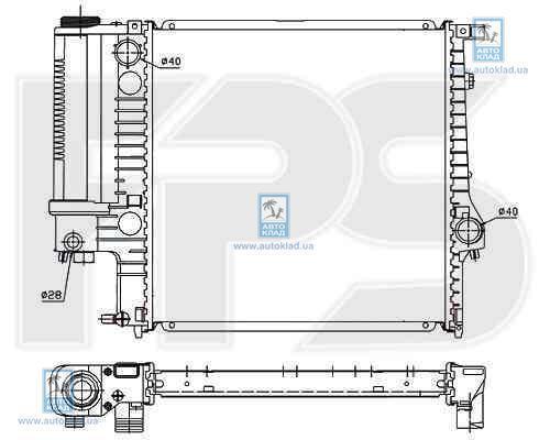 Радиатор охлаждения FPS 14A867