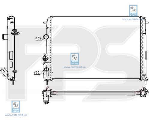 Радиатор охлаждения FPS 56A365