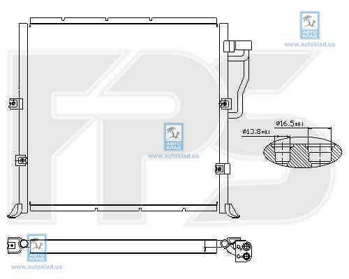 Радиатор кондиционера FPS 14K05