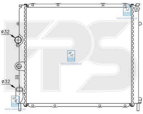 Радиатор охлаждения FPS 56A395X