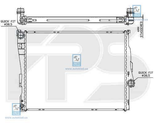 Радиатор охлаждения FPS 14A27X