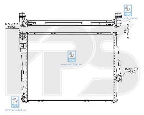 Радиатор охлаждения FPS 14A26