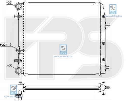Радиатор охлаждения FPS 74A440X